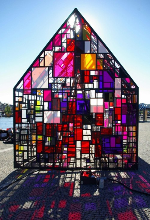 """Kolonihavehus"" by Tom Fruin Sort of Mondrian."
