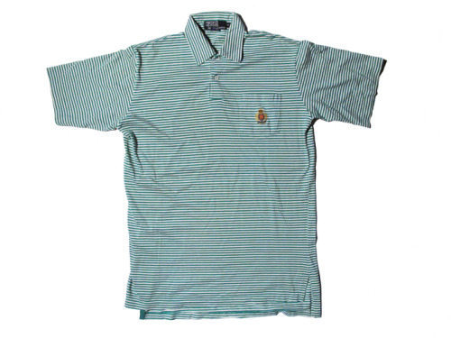 POLO RALPH LAUREN CREST GREEN STRIPED SS POLO