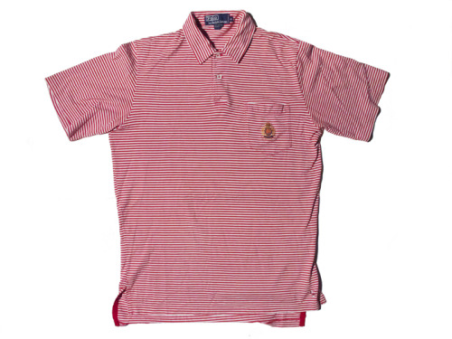 POLO RALPH LAUREN CREST RED STRIPED SS POLO