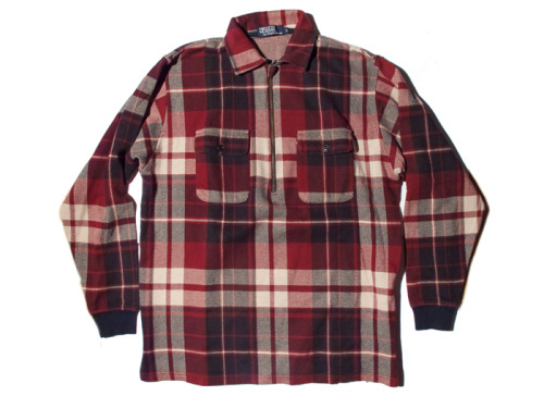POLO RALPH LAUREN RED PLAID PULL-OVER
