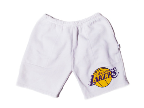 LOS ANGELES LAKERS SWEAT PANT SHORTS