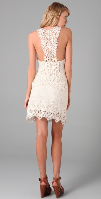 OH. Super cute summer dress! Love the lacy back! (via ShopBop)