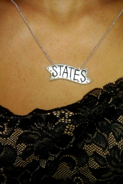 LOVE my new STATES necklace by @shopjawbreaking  Thank you!!
