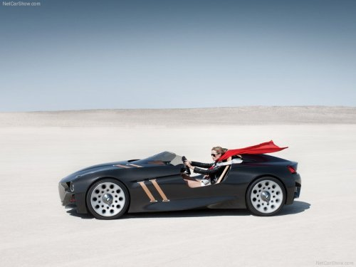 theautoinsider:  BMW 328 Hommage Concept   Every hot convertible concept should come with a cape.