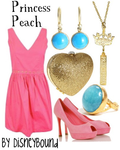 disneybound:  Princess Peach Rule Breaker #4 of 10 (you can't see the back of the dress, but it has a big heart cut out…so cute!)