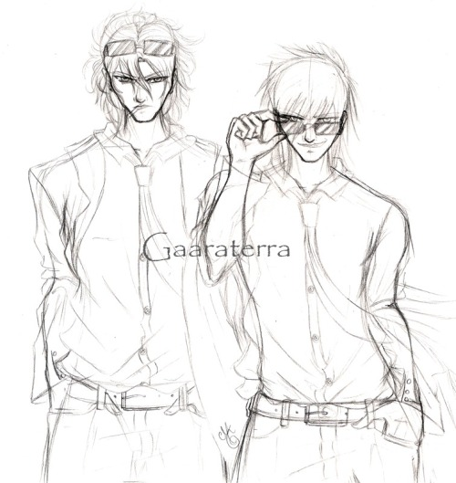Sketch of the cover of the chapter 2 of my story~ It's Selez and James 8D Can't wait to start coloring it ;D