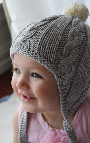 knit2together:  knitted Beanie Funky Husky Grey (by Fawn and Milk)