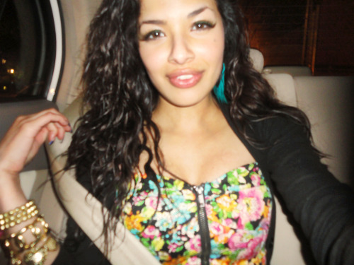 nanimami:  Me, in the back seat, after the curren$y show.. NUKED. lol.