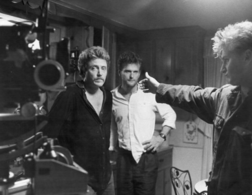Christopher Walken, James Foley and Sean Penn on-set, At Close Range (1986) (via amy-blue)