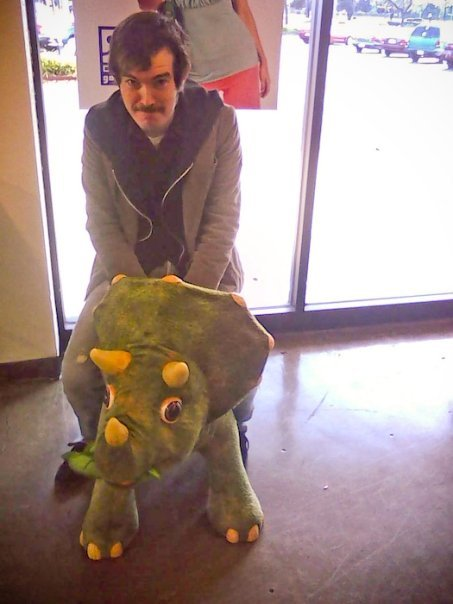 tehjeff:  When I ride a dinosaur while wearing a mustache.  Two years ago today.