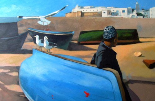 Essaouira Oil/canvas In Essaouira for a few days, great atmophere, sea food and music.