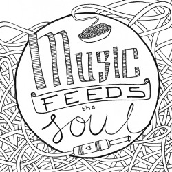 Music feeds the soul Submission for napkin contest Lowlands 2011