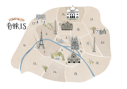 Paris Map (by Clare Owen Illustration)