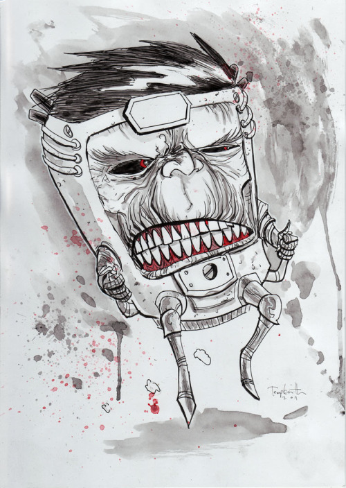 M.O.D.O.K. by Ben Templesmith