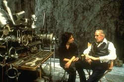 Tim Burton and Vincent Price on the set of Edward Scissorhands