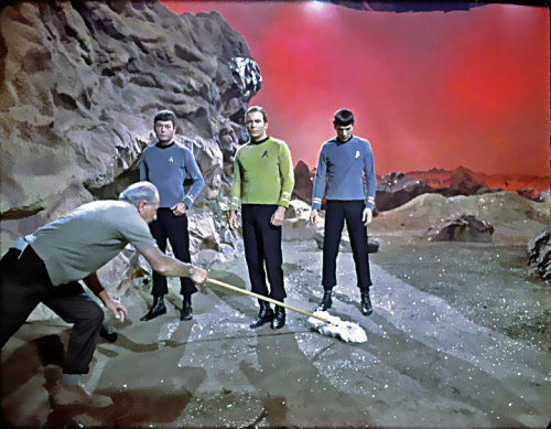 Glitter. between scenes set shot on Star Trek circa 1967 :: via flickr.com