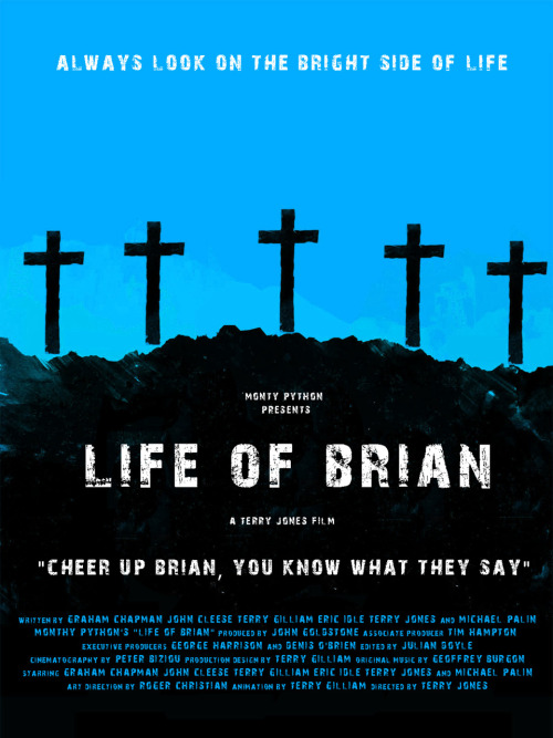 Monty Python's Life of Brian by Russell Ford Movies (inspired by Olly Moss)