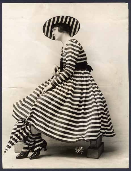 Photo of a lady in outdoor dress, ca 1917