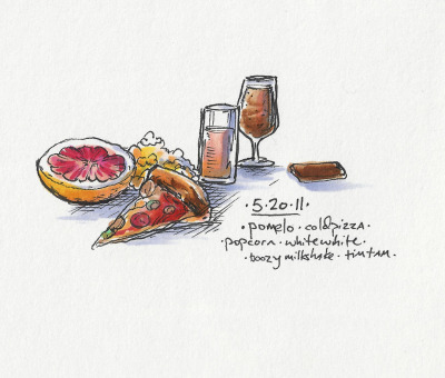 5/20/11 Pomelos are the Lemarchand's Box of fruit… #doodlediet