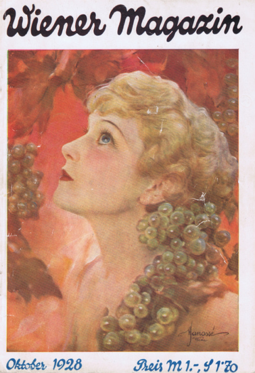 drakecaperton:  Wiener Magazin October 1928 Cover by Manasse