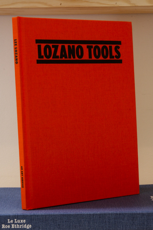 "Lee Lozano, Tools ""But for faces of young people with cool flesh color this couch should be tempered, the couch, and the flesh colors too, with yolk of a town hen's egg, because these are whiter yolks than the ones which country or farm hens produce; those are good because of their redness, for tempering flesh colors for aged and swarthy persons"". An Art Service, New York, 2011 Edition of 500 8½ X 11 INCHES (28 X 21½ CM) $50 Purchase"