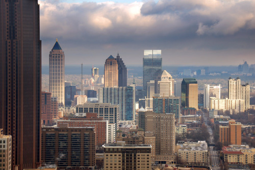 Atlanta Skyline By Robert Rainbow Photos