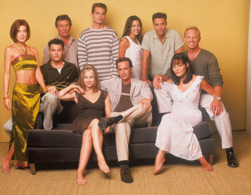Just grabbed the last & final season of Beverly Hills, 90210. Still trying to forget how much I've probably spent purchasing all 10 seasons over the years. What can I say, I love my 90s drama. There's just one thing about this photo that really gets me though; why is Donna the only one wearing a bold colour?