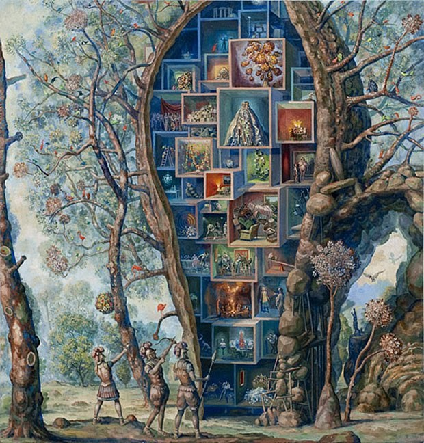 Julie Heffernan - Self-portrait as Treehouse