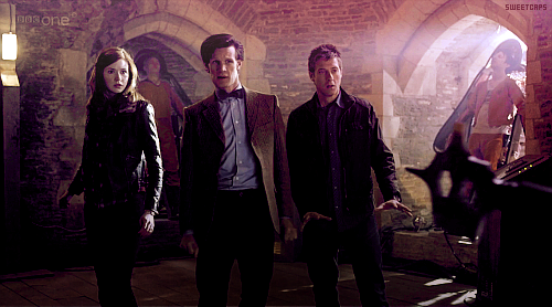 Amy, The Doctor, and Rory