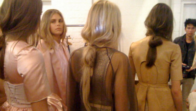 Backstage at Ellery.