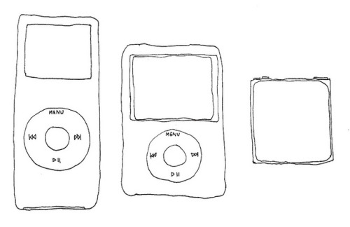 ipod colletion illustration drawing ink pen
