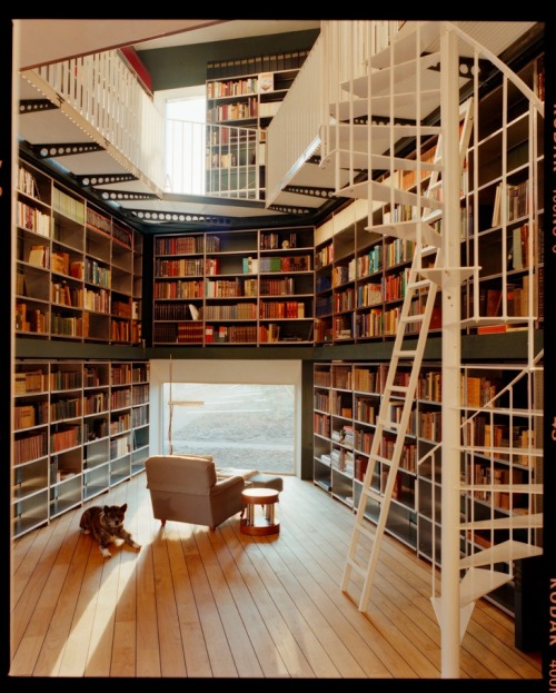 myidealhome:  bookshelfporn: Library for 5200 books. Designed by architecture firm Ilai and photography by Lukas Wassmann.