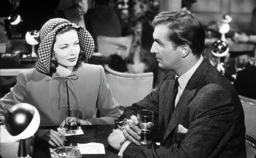 Gene Tierney and Vincent Price in the film noir classic Laura (1944)