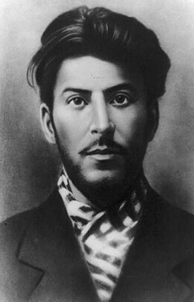 "The young Joe Stalin, from HiLobrow's new series, ""Look at that Forgotten Hipster."""