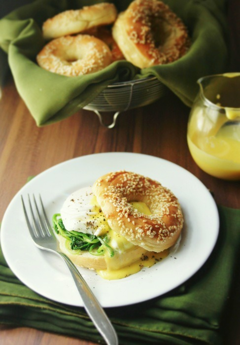 boyfriendreplacement:  Bagels and Eggs Florentine Submitted by peegaw