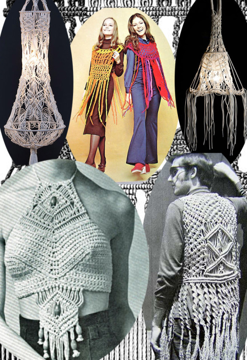 superseventies:  1970s macrame fashion.