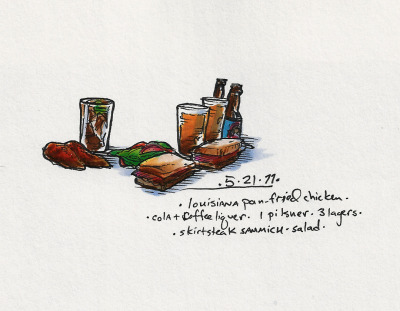 5/21/11 Long night. #doodlediet #lagunitas