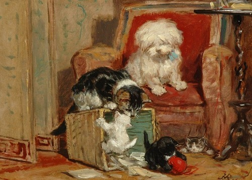 stilllifequickheart:  Henriëtte Ronner-Knip Kittens at Play 19th century