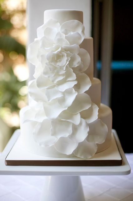 petals wedding cake. I adore this.  (found here.)