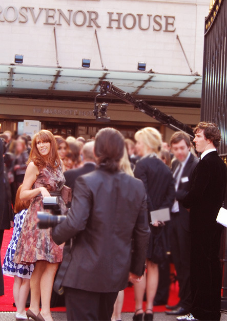 weareallatsea:  Catherine Tate and Benedict Cumberbatch at the 2011 TV Bafta Awards.