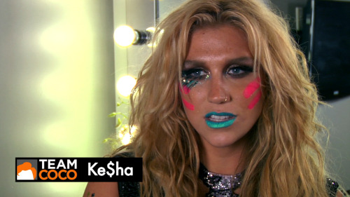 I directed a sketch starring Ke$ha for Team Coco that will be released later this week. You have been warned.