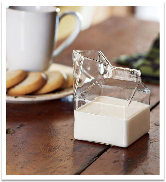 A cute rendition of the classic mini milk carton. Very lovely. You can get one over at commongoods.com (via  loveallthingscomfy)