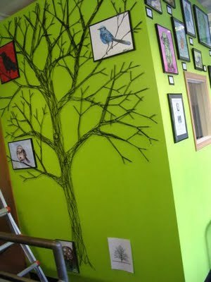 childcentralstation:  (via Someday Crafts: String Art Trees)