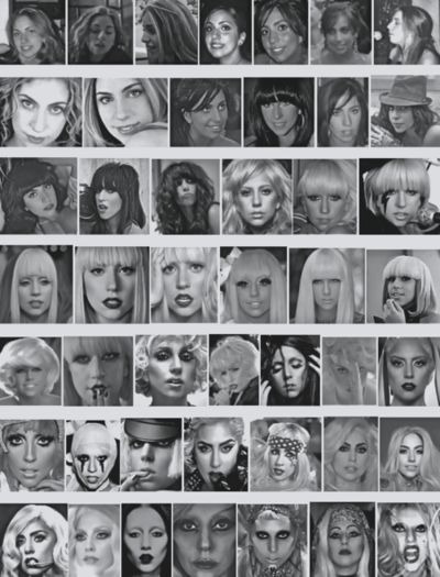 The great and fabulous faces of LADY GAGA !!!
