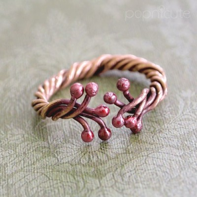 Tree of Life Ring - Cute Solid Copper Ring - Can be Made to Your Size by popnicute
