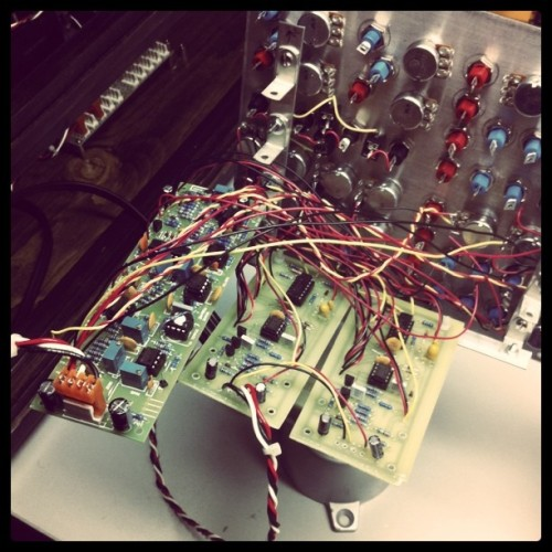 1st oscillator working, more or less.  (Taken with instagram)