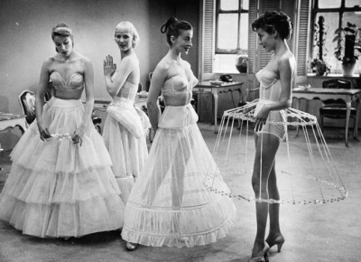 Vintage Lingerie, Crinolines, Shapewear and Couture Gowns