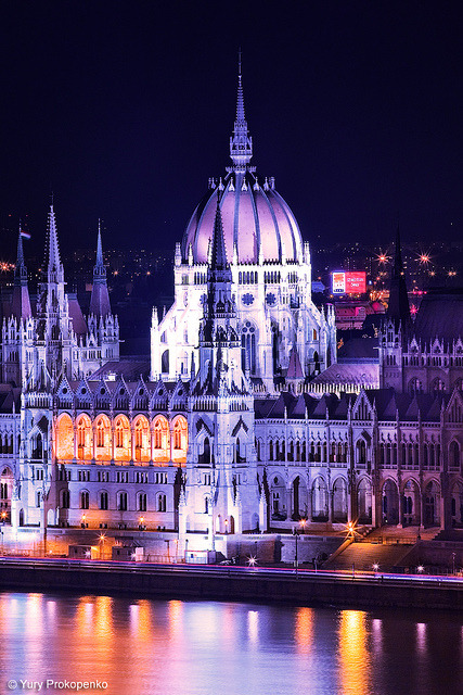 Parliament Building, Budapest, Hungary by -yury- on Flickr.