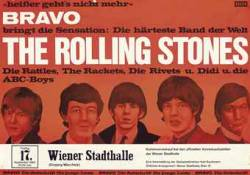 The Rolling Stones  A rare Austrian concert poster featuring The Rolling Stones and others at the Stadthalle, Vienna, Friday, 17th September, 1965 —  23x33in. (58.4x84cm.) unfolded