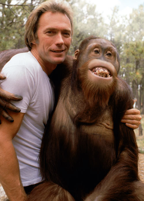 That's right. This used to happen.  superseventies:  Clint Eastwood and friend.